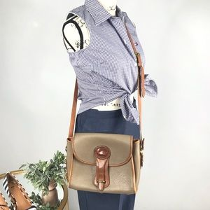 VINTAGE DOONEY&BOURKE Tan Crossbody Satchel Purse